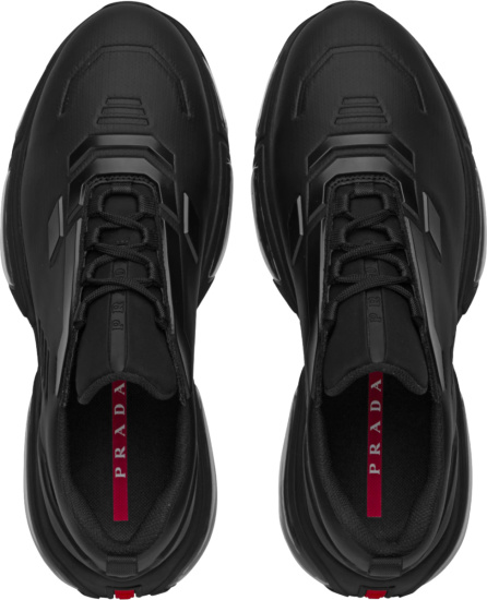 Prada Black Collision 19 R Sneakers
