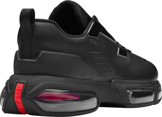 Prada Black Collision Air Sole Sneakers