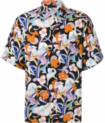 Prada Black Floral Print Short Sleeve Shirt