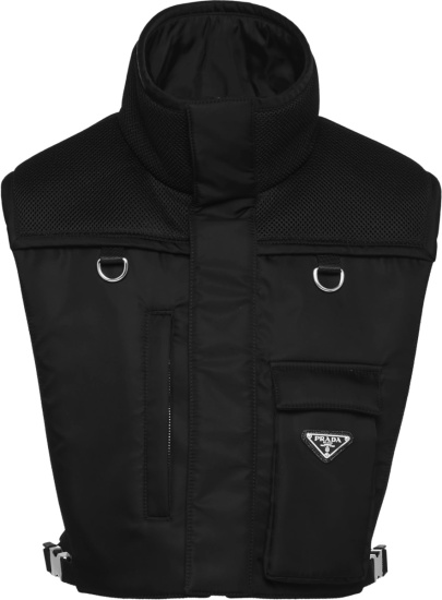 Prada Black High Neck Re Nylon Padded Vest Sgb813 1wq8 F0002 S 211 Slf