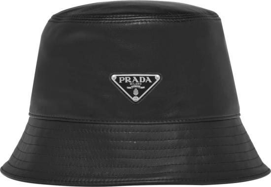 Prada Black Leather Bucket Hat 1hc137 2atn F0002