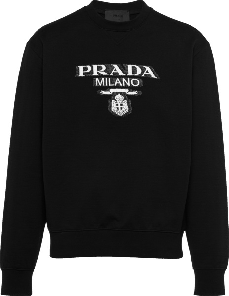 Prada Black Milano Logo Sweatshirt