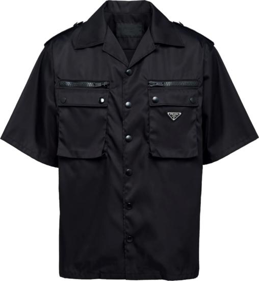 Prada Black Military Shirt