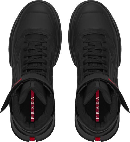 Prada Black Polaris 19 Lr Sneakers