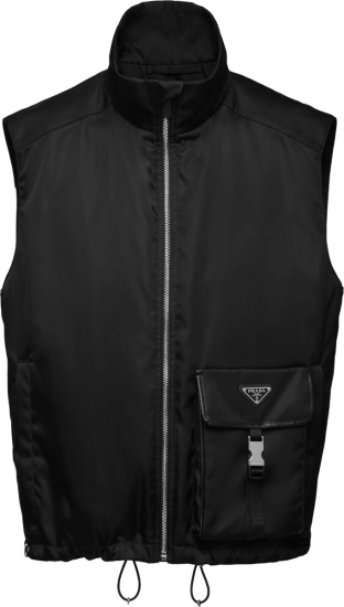 Prada Black Re Nylon Cargo Pocket Vest Sgb809 1wq8 F0002 S 211