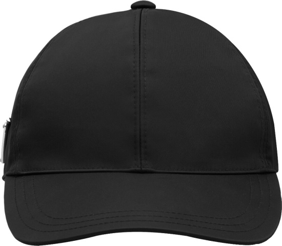 Prada Black Side Triangle Logo Hat
