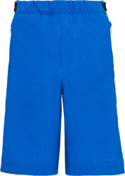 Prada Blue Bi Stretch Bermuda Shorts