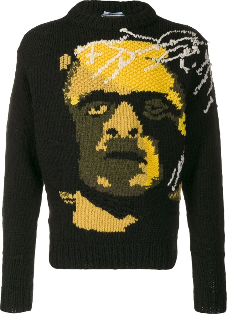 Prada Frankenstein Knit Black Sweater