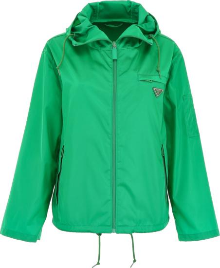 Prada Green Nylon Jacket