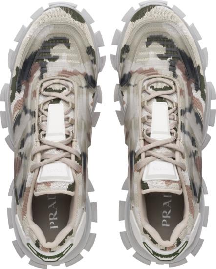 Prada Grey Camouflage Cloudbust Thunder Sneakers