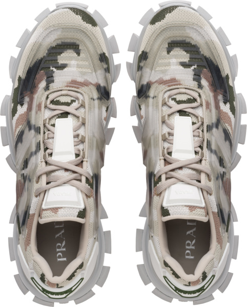 Prada Grey Camouflage Cloudbust Thunder Sneakers