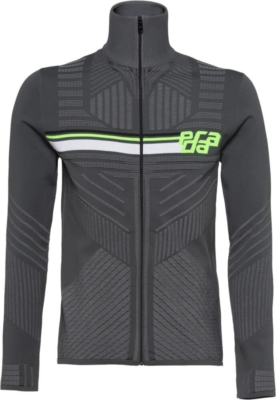 Prada Grey Technical Knit Zip Up Jacket