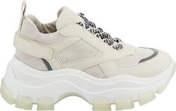 Prada Ivory Suede Pegasus Sneakers
