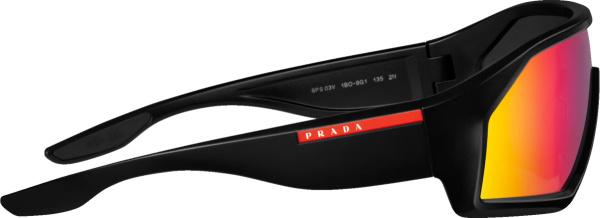 Prada Linea Rossa Black And Multicolor Mirrored Lenses