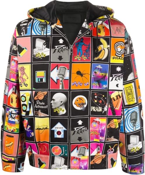 Prada Mega Mix Multicolor Jacket