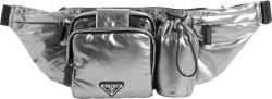 Prada Metallic Silver Belt Bag