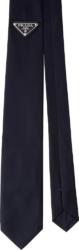Prada Navy Gabardine Tie