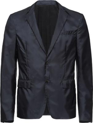 Prada Navy Polyamide Tech Blazer