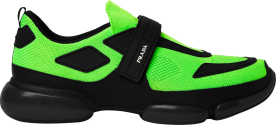Prada Neon Green 'Cloudbust' Sneakers