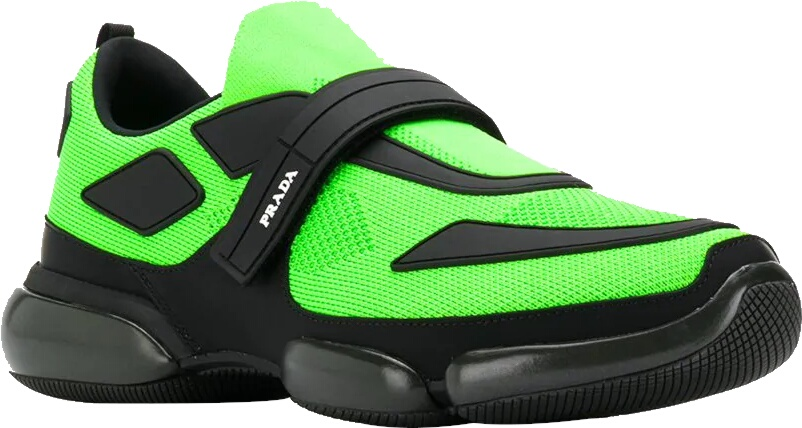 Prada Neon Green Cloudbust Sneakers