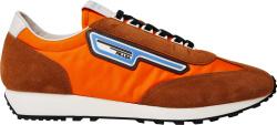 Prada Orange Suede Nylon Milano 70 Sneakers