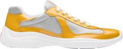 Prada Patent Yellow Americas Cup Sneakers