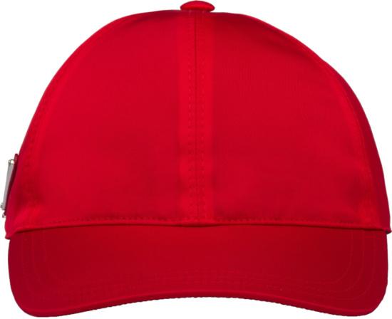 Prada Red Nylon Hat