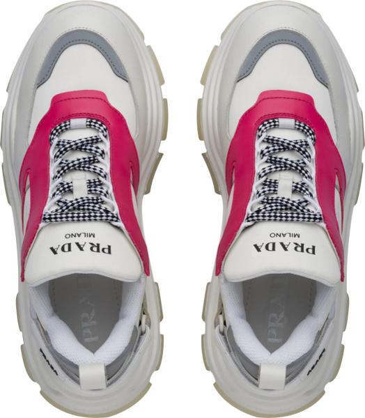 Prada Red White Pegasus Sneakers