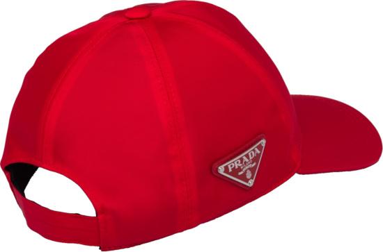 Prada Side Logo Red Hat
