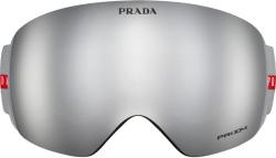 Silver Ski Goggles
