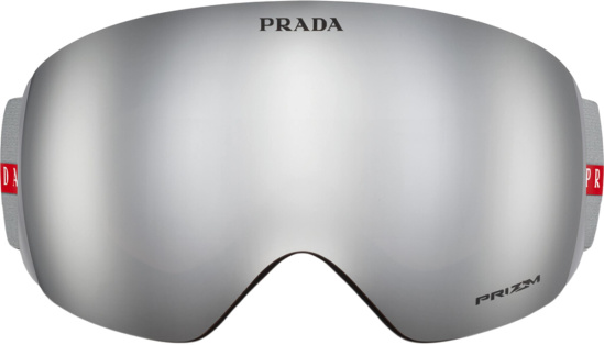 Prada Silver Ski Goggles