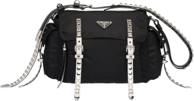 Prada Studded Black Cross Body Bag