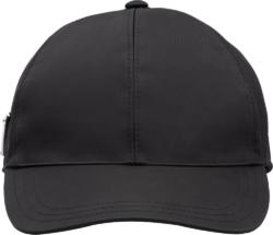 Prada Triangle Logo Black Hat