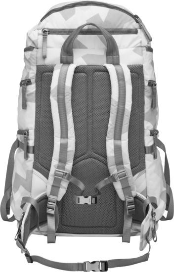 Prada White Camo Ski Boot Backpack