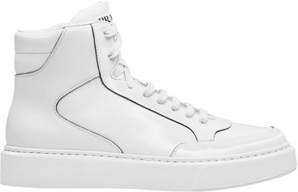 Prada White High Top Marco Sneakers