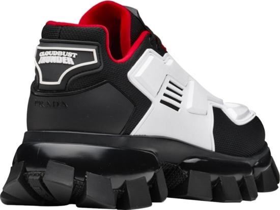 Prada White Panel Cloudbust Thunder Sneakers