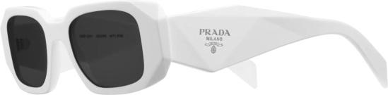 Prada White Symbole Sunglasses