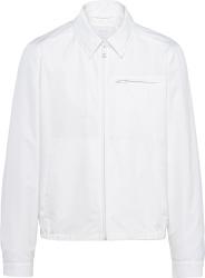 Prada White Zip Collared Jacket Sgb699 1xv2 F0009 S 211 Slf
