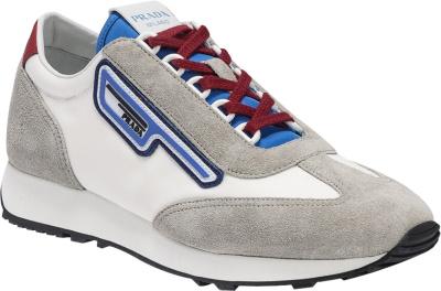 Prada Whtie And Grey Retro Sneakers
