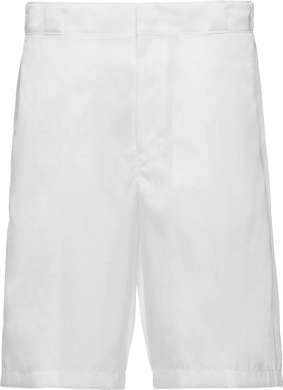Prada Whtie Re Nylon Long Shorts Spg32 1wq8 F0009 S 182