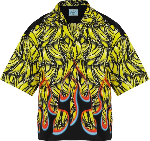 Prada Yellow Banana And Flame Shirt