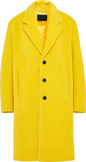 Prada Yellow Corduroy Coat Sgb840 1y8a F0010 S 212