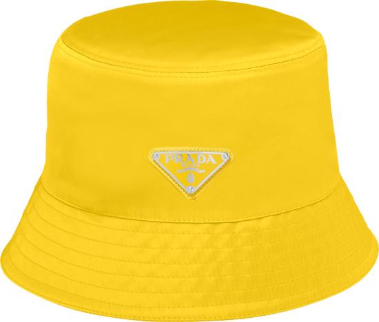 Prada Yellow Nylon Bucket Hat