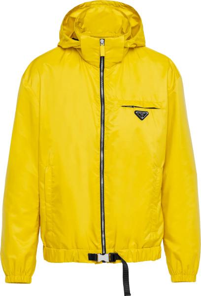 Prada Yellow Re Nylon Hooded Windbreaker Jacket Sgb929 1wq9 F0010 S 212