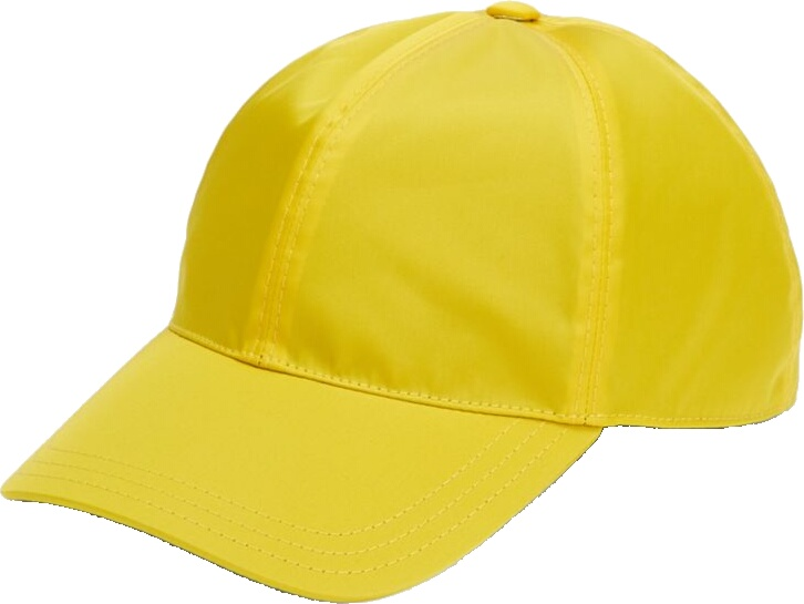 Prada Yellow Tessuto Triangolo Baseball Hat