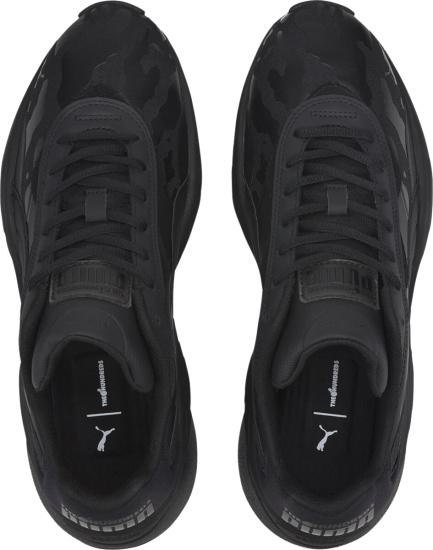 Puma All Black Camo Sneakers