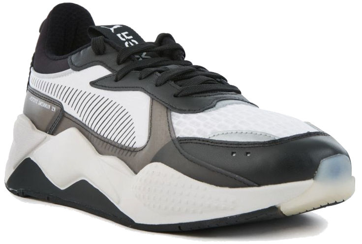Puma Black Grey And White Rs X Tech Sneakers