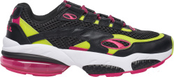 Puma Black Pink And Lime Cell Venom Sneakers