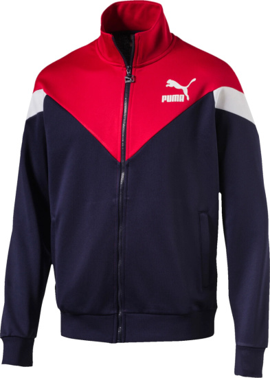 red white and blue puma jacket