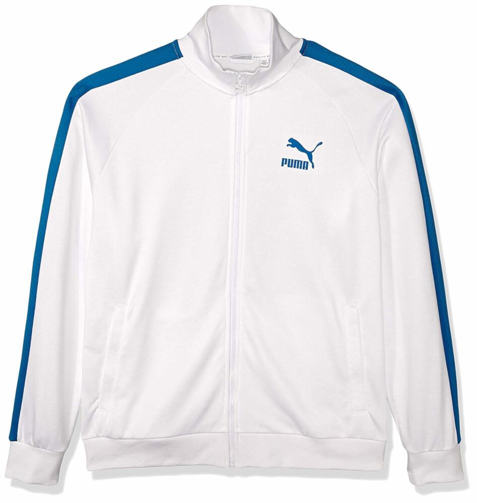 Puma White And Blue T7 Track Jacket